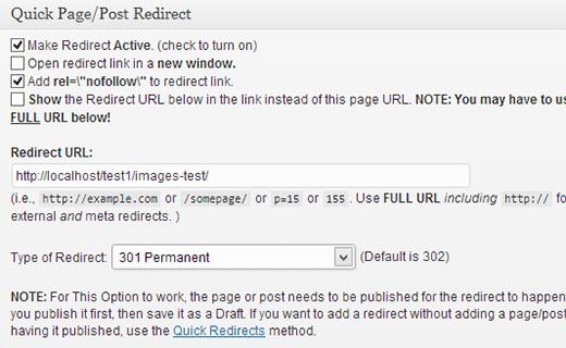 Как сделать перенаправление страницы в WordPress