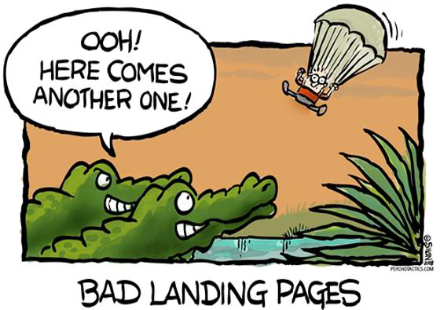 Исправьте ошибки на своих посадочных страницах
