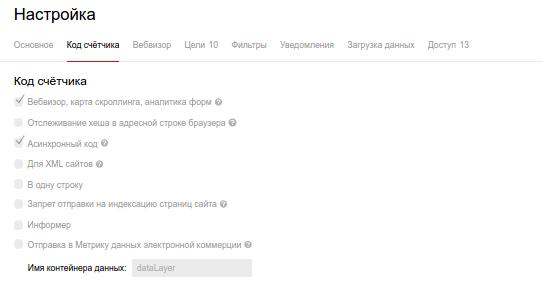 Основной функционал счетчика Яндекс.Метрика
