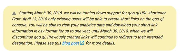 Google закрывает сервис сокращения ссылок