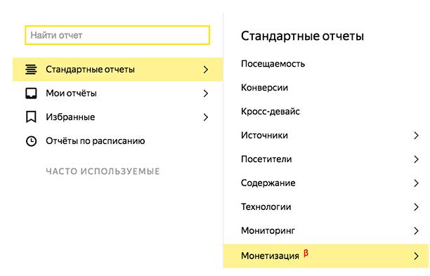 В Яндекс.Метрике можно оценить доход от рекламы в РСЯ