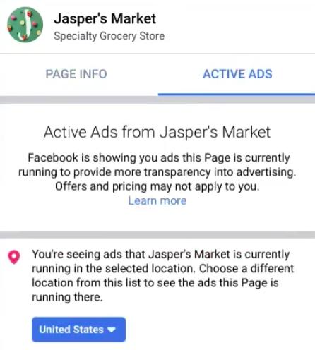Facebook открыл данные о рекламе компаний