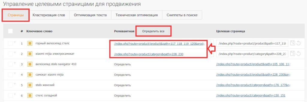 SEO без закупки ссылок - Настройка целевых страниц