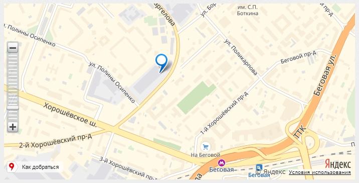 SEO для сайта автосервиса - Пример карты проезда