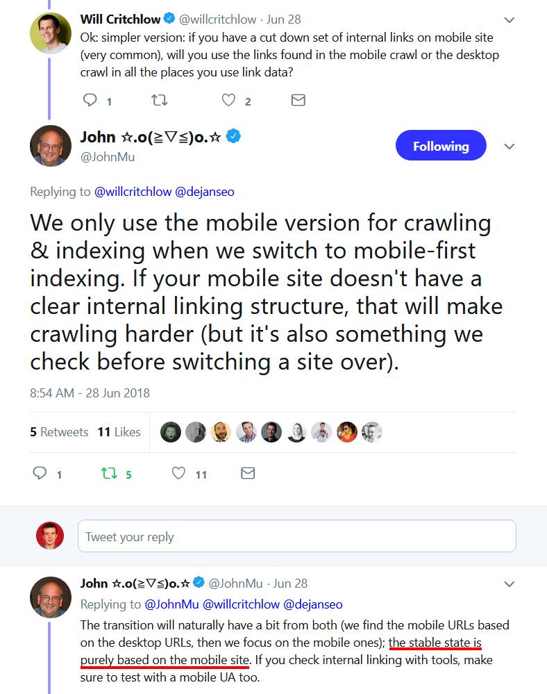 Внутренняя перелинковка и Mobile First